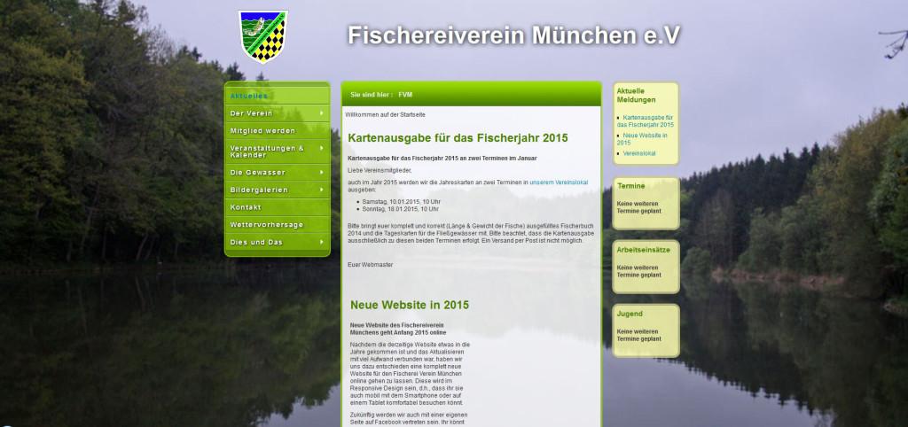 Die alte Website des Fischereiverein München e.V.